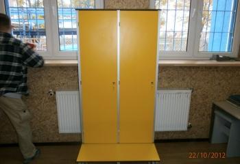 żółta szafka basenowa hpl sanipol